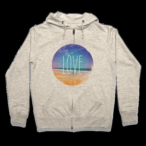 Love (The Beach) Zip Hoodie