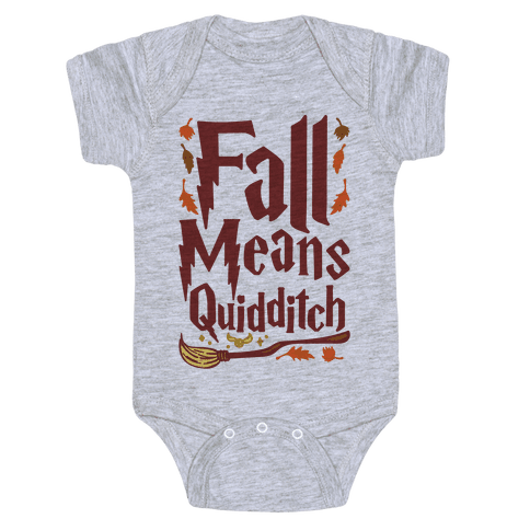 Fall Means Quidditch Baby Onesy