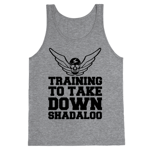 Training To Take Down Shadaloo Tank Top