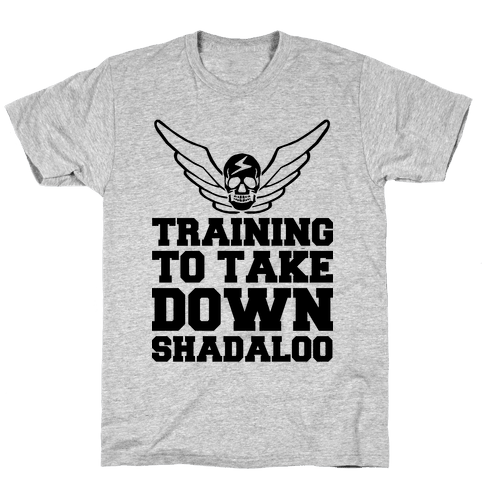 Training To Take Down Shadaloo Mens T-Shirt