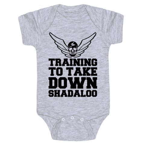 Training To Take Down Shadaloo Baby Onesy