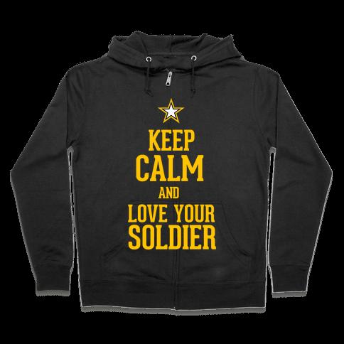 Love Your Soldier Zip Hoodie