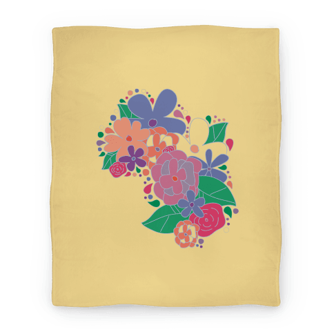 Flower Garden Blanket (Yellow) Blanket