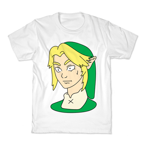 Link Face Parody Kids T-Shirt