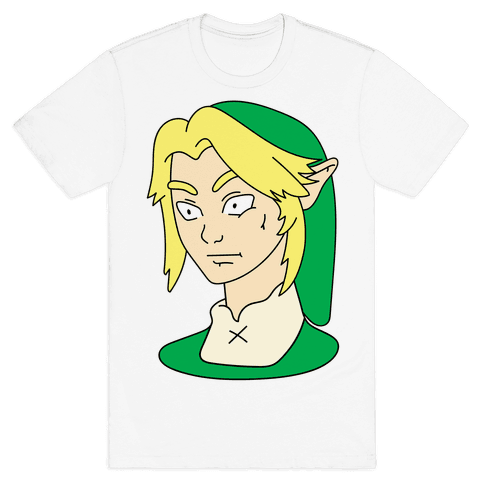Link Face Parody Mens T-Shirt