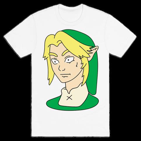 Link Face Parody Mens T-Shirt