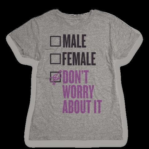 I am Genderfluid Check List Womens T-Shirt