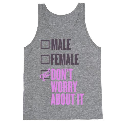 I am Genderfluid Check List Tank Top