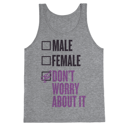 I am Genderfluid Check List Tank Top