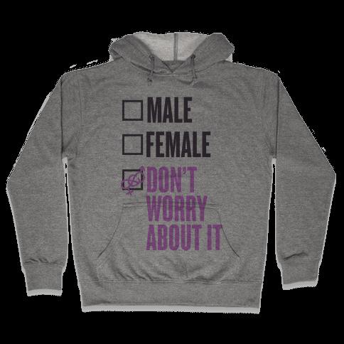 I am Genderfluid Check List Hooded Sweatshirt