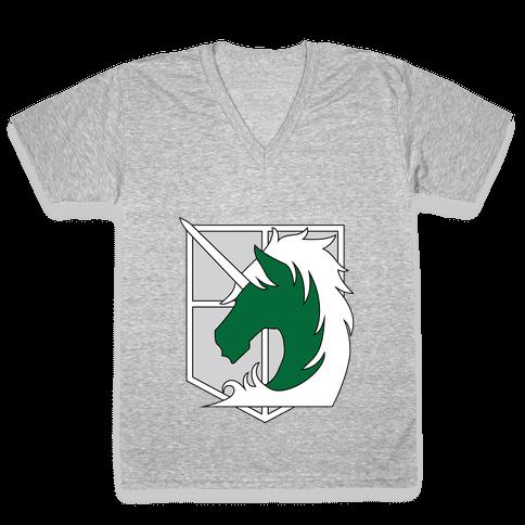 Military Police V-Neck Tee Shirt