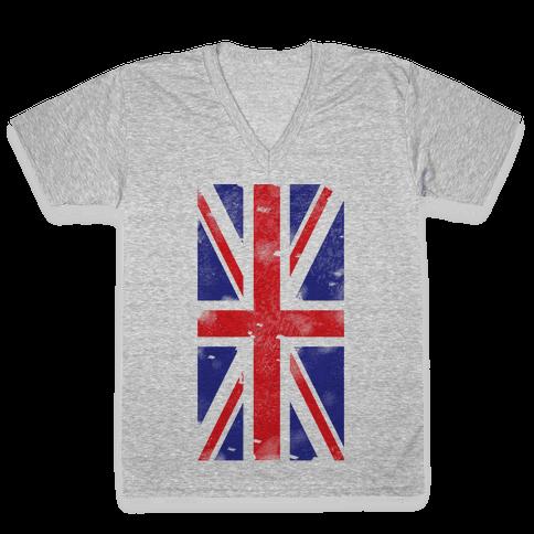 Union Jack V-Neck Tee Shirt