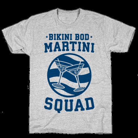 Bikini Bod Martini Squad Mens T-Shirt