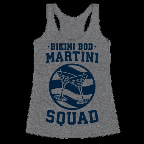 Bikini Bod Martini Squad Racerback Tank Top