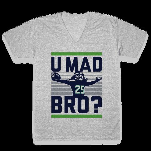 U Mad Bro? V-Neck Tee Shirt