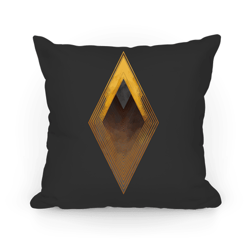 Golden Diamond Pillow