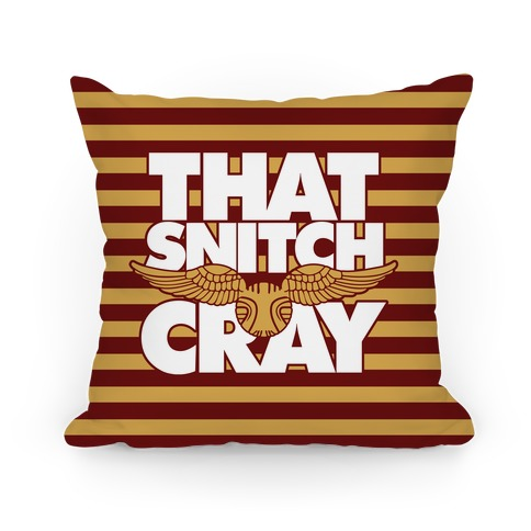 That Snitch Cray Pillow
