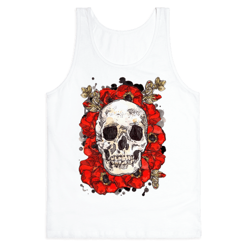 Skull on a Bed of Poppies