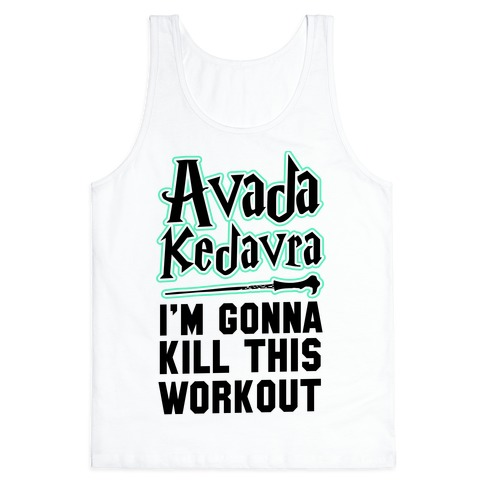 Avada Kedavra Fitness (Black) Tank Top