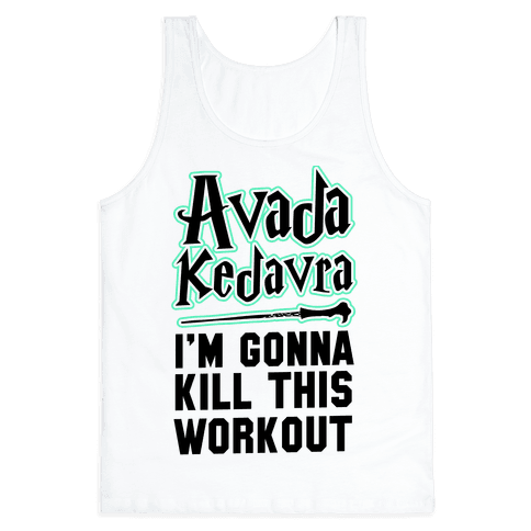 Avada Kedavra Fitness (Black) Tank Top