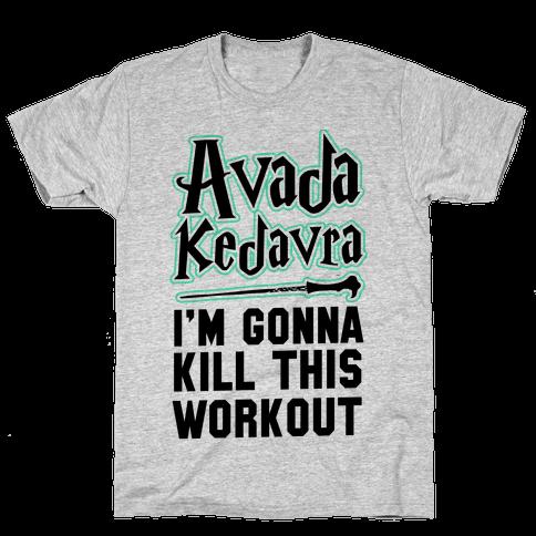 Avada Kedavra Fitness (Black) Mens T-Shirt