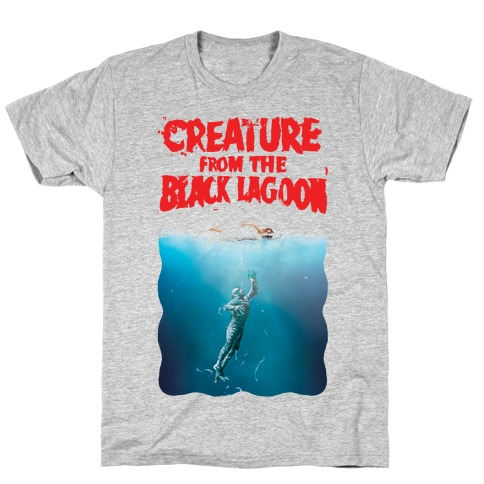 Black Lagoon (Jaws Parody) T-Shirt