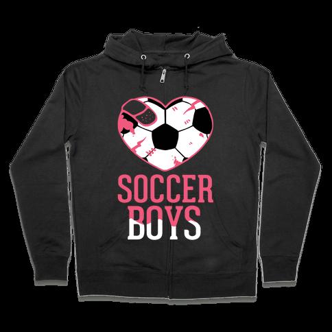 Soccer Boys Zip Hoodie