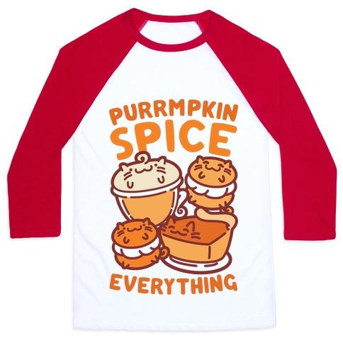 Purrmpkin Spice Everything Baseball Tee