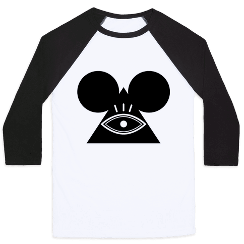 Illuminati Mouse Baseball Tee