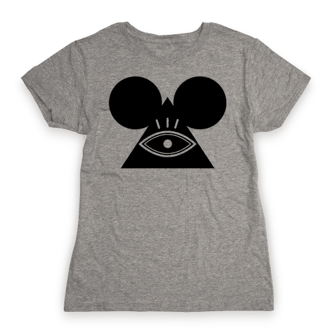 Illuminati Mouse Womens T-Shirt