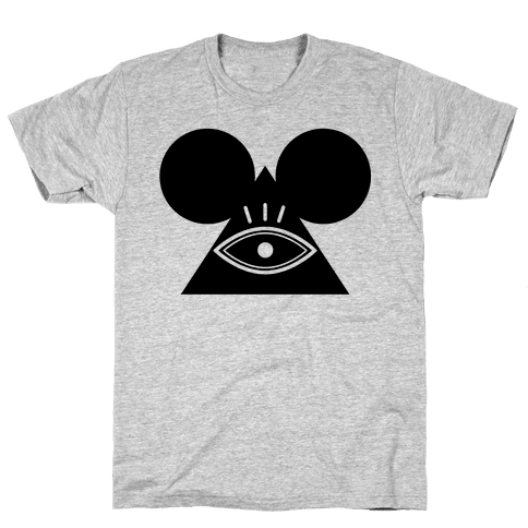 Illuminati Mouse Mens T-Shirt