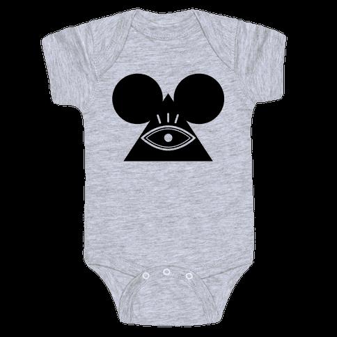 Illuminati Mouse Baby Onesy