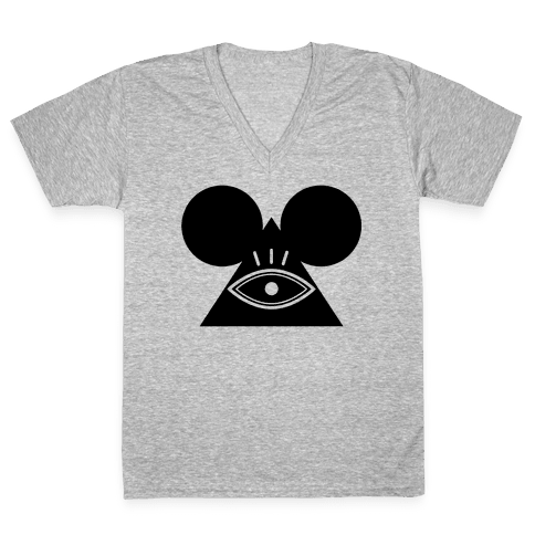 Illuminati Mouse V-Neck Tee Shirt