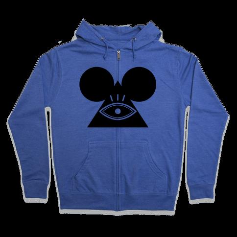 Illuminati Mouse Zip Hoodie