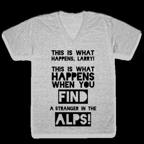 A Stranger In The Alps V-Neck Tee Shirt
