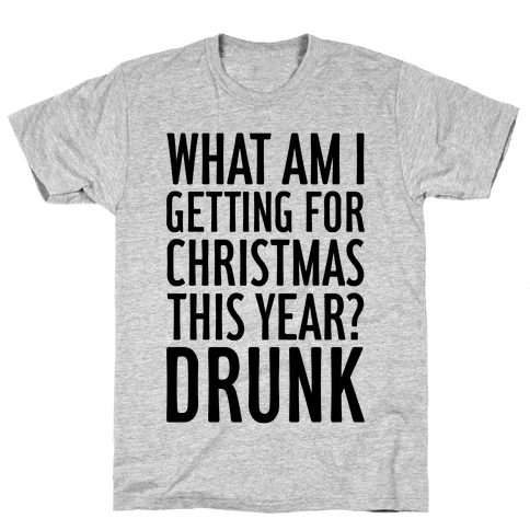 Getting Drunk For Christmas Mens T-Shirt