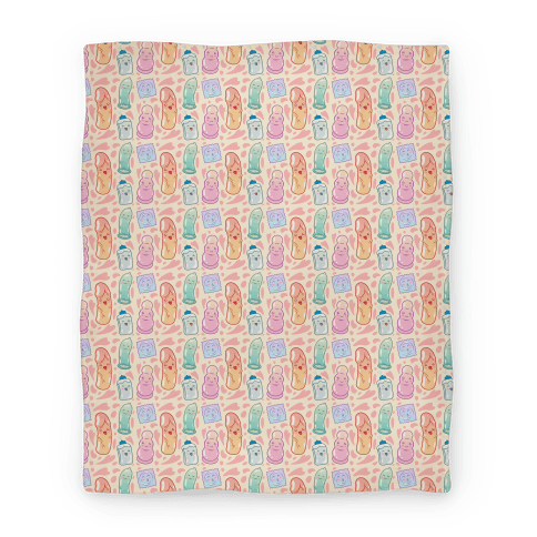 Cute Sex Toy Pattern Blanket