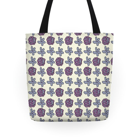 Doodle Flower Pattern Tote Tote