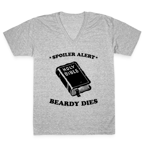 Bible Spoiler V-Neck Tee Shirt