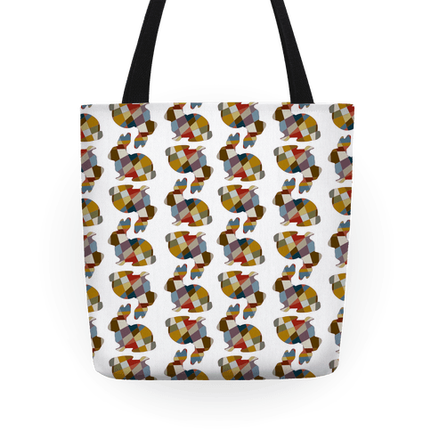 Mosaic Bunny Pattern Tote