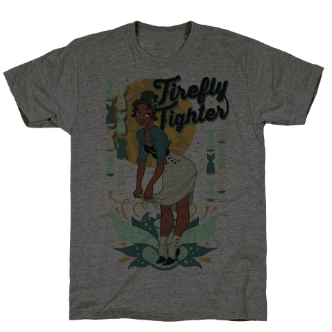 Firefly Fighter Tiana Mens T-Shirt