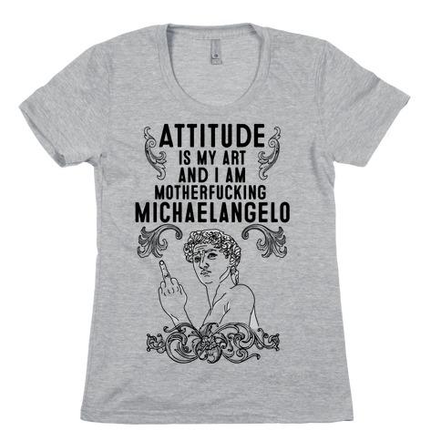 Art Attitude Womens T-Shirt