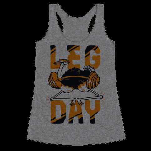 Leg Day Ostrich  Racerback Tank Top