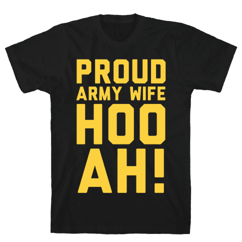 Proud Army Wife Mens T-Shirt