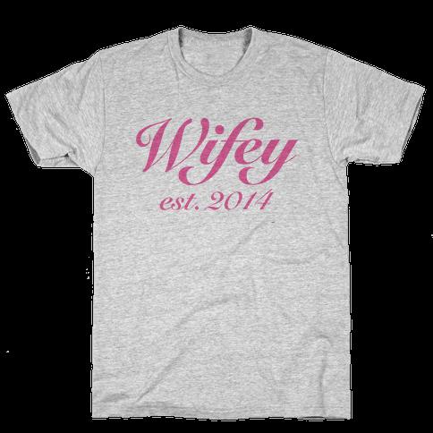 Wifey Est. 2014 Mens T-Shirt