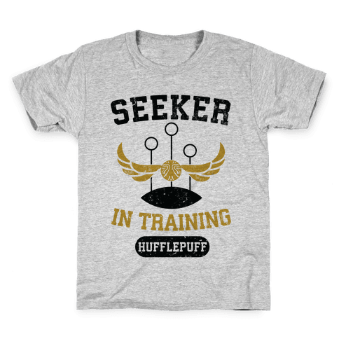 Seeker In Training (Hufflepuff) Kids T-Shirt
