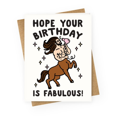 Hope Your Birthday Is Fabulous Greeting Card