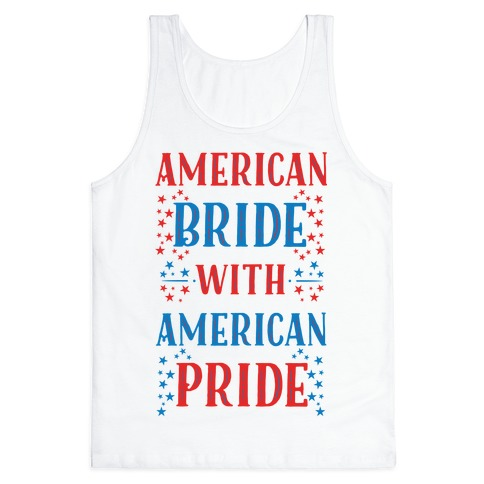 American Bride with American Pride Tank Top