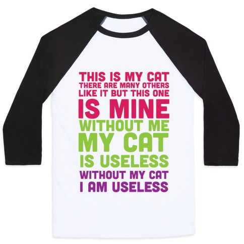 This is my Cat Baseball Tee