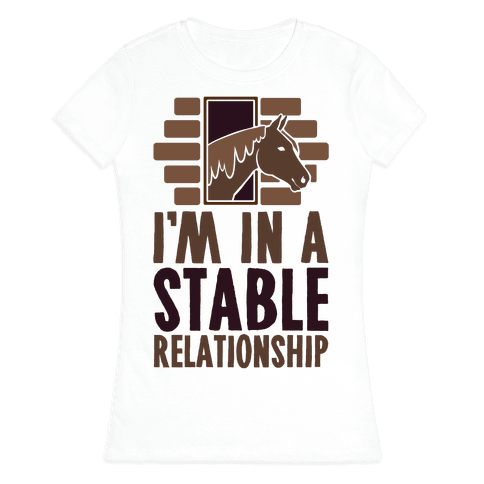 I'm In A Stable Relationship Womens T-Shirt